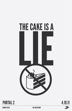 The Cake Is A Lie LIES I TELL YOU Video Game Memes