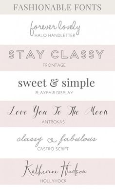☆ A collection of fashion fonts
