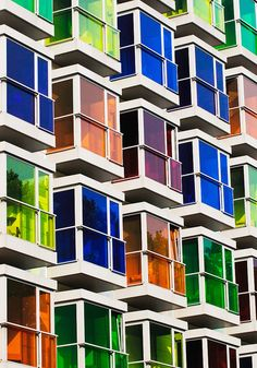 Colored windows. There are amazing architecture projects around the world. Here you can see every type of project, since buildings, to bridges or even other physical structures. Enjoy and see more at www.homedesignideas.eu