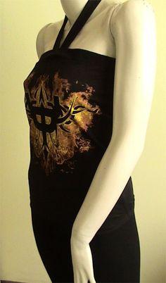 JUDAS Priest logo Metal DIY Women tube Top Shirt size by obskura, $19.99