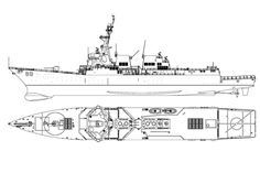 Arleigh Burke-class Destroyer Navy Badges, Boat Drawing, Deck Plans, Navy Ships, Aircraft Carrier, Model Ships, Us Navy, Battleship, Warfare