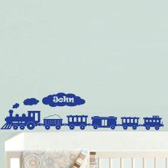 Wall  Decal Vinyl Sticker  Decor Art Bedroom Nursery Kids Baby Custom Name Words Cloud Train Boy (z605)