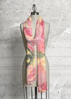 Cashmere Silk Scarf - JOA Peonies by VIDA VIDA 6AeN0MKZ