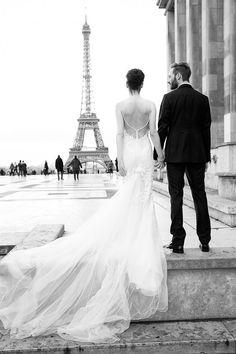 Moments in Paris.  An amazing photo shot by Le Secret D'Audrey. Galia Lahav wedding dresses.