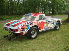 Vintage Corvette Race Cars   ... VINTAGE CORVETTE DRAG RACE CAR   Keith Martin's Collector Car Price
