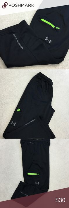 Boys Youth XLarge Under Armour Storm Sweat Pants Boys XLarge Under Armour Storm Sweat Pants. Black. With lime green and gray/silver accents. Excellent condition. Like new.   👠Unless otherwise stated NWT, all items are from my PERSONAL closet and GENTLY used. Please do not expect UC to look NWT. 👠  💋Please ask any questions you may have BEFORE purchase.💋  ❤️  Bundle together with other items for the cutest outfit, and best deal!! ❤️  ❗️PLEASE USE THE OFFER BUTTON TO SUBMIT OFFERS.❗️  🎀As…