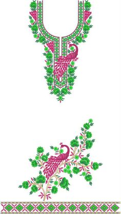 panel Single head Top & Duppata Embroidery Design