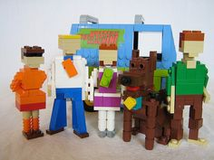 Scooby Doo - One of 20 Incredible Cartoon Lego Creations Legos, Incredible Cartoon, Lego Scooby Doo, Lego Sculptures, Lego Boards, Lego Club, Lego Design, Tips & Tricks, Lego Projects
