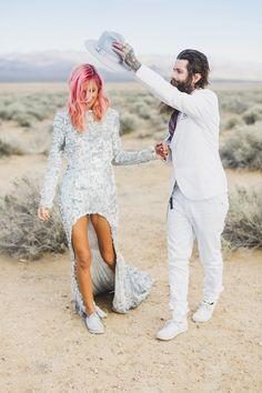 And this beautifully bold pair: | 38 Beautifully Modern Wedding Dress Ideas