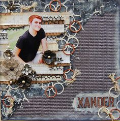 Xander-**My Creative Scrapbook*** - Scrapbook.com-love how the pic is integrated into the background