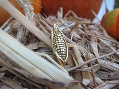 Gold Corn Lapel Pin