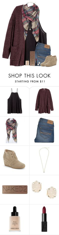 """""""Somewhere someone is looking for exactly what you have to offer."""" by maggie-prep ❤ liked on Polyvore featuring H&M, Abercrombie & Fitch, TOMS, Kendra Scott, Urban Decay, Giorgio Armani and NARS Cosmetics"""