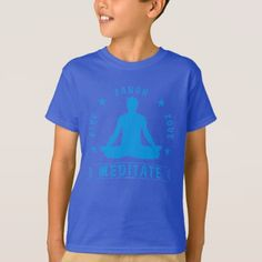 Live Laugh Love Meditate Male Text (blue) T-Shirt - diy cyo customize create your own personalize