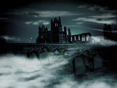 Whitby Abbey Ruins,North Yorkshire, England. Inspo for Bram Stoker, Dracula's Castle