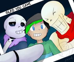 Jacksepticeye And The Skeleton Bros by BlueDreamer0802