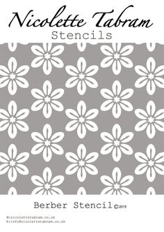 This simple floral furniture stencil is perfect for your up-cycling projects. Can also be used as a fabric stencil, floor stencil or wall stencil t. Stencils, Stencil Fabric, Stencil Templates, Stencil Diy, Stencil Painting, Stencil Designs, Floral Furniture, Furniture Stencil, Moroccan Stencil