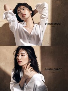 'Suzy' showed off her mesmerizing charms. She revealed her pictorial for a jewelry brand on February Suzy strikes various poses in a loose-fit white shirt. Korean Beauty, Asian Beauty, Miss A Suzy, Wild Girl, Bae Suzy, Beauty Shots, Foto Pose, Poses, Korean Celebrities
