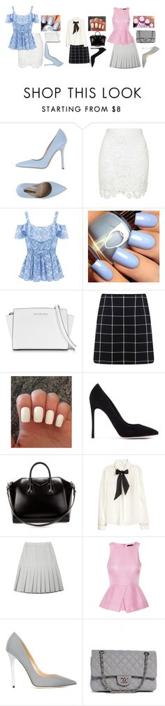 """""""TEA PARTY IN GREAT BRITAN!"""" by hazeleyebeauty ❤ liked on Polyvore featuring Norma J.Baker, Michael Kors, Miss Selfridge, Gianvito Rossi, Givenchy, H&M, Ksenia Schnaider, TIBI, Jimmy Choo and Chanel"""