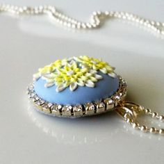 Summer  PETIT FOUR NECKLACE - clay cabochon by Anca Pe'elma on Etsy, $30.00