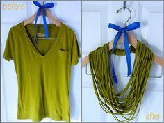 Dragon Fruit: DIY: Easy No-Sew T-Shirt Necklace