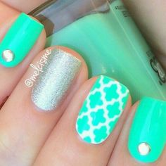 21 Mejores Imágenes De Uñas Verde Agua Pretty Nails Cute Nails Y