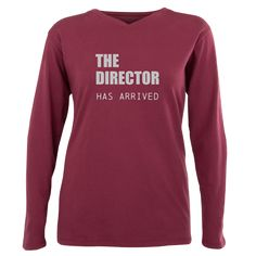 THE DIRECTOR HAS ARRIVED Plus Size Long Sleeve Tee