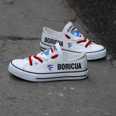 08108873ae Custom Printed Low Top Canvas Shoes - Proud Boricua Pride Shoes