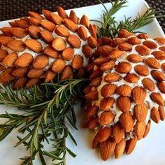 Pinecone cheeseballs; Christmas entertaining