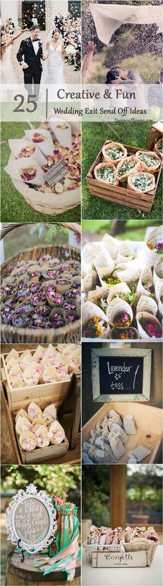 wedding exit confetti moss send off ideas / / www.deerpearlflow...