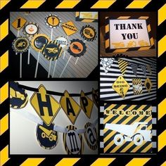 Printable Party PackageDIY ConstructionLoads of by Dimpleprints, $10.00