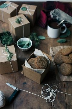 Make homemade gingersnaps to give as gifts with a recipe from Always with Butter.