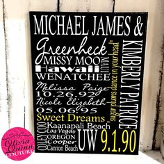 New beautiful custom anniversary celebration canvas Free Shipping on orders over $100 with code SHIP100