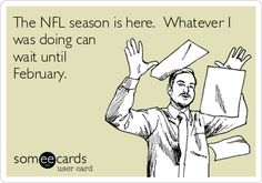 The #NFL season is here. Whatever I was doing can wait until February.