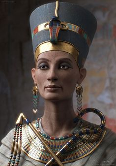 A 3D image of Nefertiti done by Sven Geruschkat. Incredible!