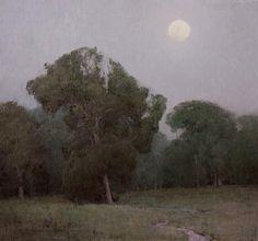 """Prairie Chapel Evening"" oil on linen, 24 x 26 in., 2010  T. Allen Lawson"