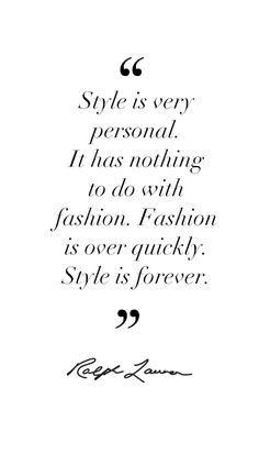 Ralph Lauren on Style