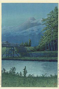 Kawase Hasui (1883-1957) | Tagonourabashi (Tagonoura Bridge), 1930 | Christie's