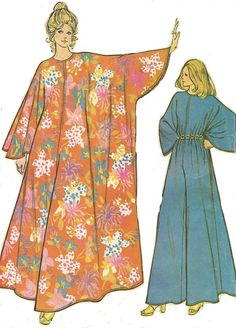 1970s Womens Caftan Jumpsuit McCalls Sewing Pattern by CloesCloset
