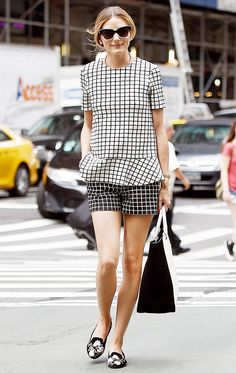 Try mixing graphic prints like Olivia Palermo for a show stopping summer look.