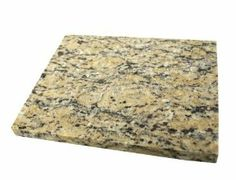 """Granite Cutting Board or Cheese Board, 7.75""""x9.5"""", Beige and Tan by Lifeforce Glass, Inc.. $18.99. Eco-friendly.. Rubber gripper feet prevent scratching. 2 cm. high. Beveled edge.. This beautiful mix of neutral colors will match almost any décor.. The compact size of this lovely granite cutting board makes it perfect for small spaces. You could also use it for a trivet or hot pad.. Save 37%!"""