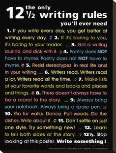 The Only 12 1/2 Writing Rules You'll Ever Need Stretched Canvas Print