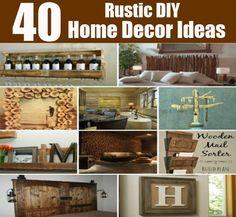 40 Genious Rustic Home Decor Ideas