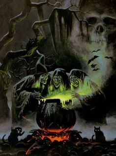 Probably my all-time favorite Halloween image. This IS Halloween. The backside art of the & Horrors& album (Sounds of Halloween). Retro Halloween, Halloween Pictures, Halloween Horror, Holidays Halloween, Halloween Crafts, Happy Halloween, Halloween Decorations, Halloween Witches, Spirit Halloween