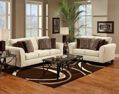 Cozy Nice Sofa And Loveseat For Your Living Room Decor Idea: Natural Ivory With Pillow Sofa And Loveseat For Modern Living Room Decor