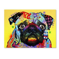 Shop for pug art from the world's greatest living artists. All pug artwork ships within 48 hours and includes a money-back guarantee. Choose your favorite pug designs and purchase them as wall art, home decor, phone cases, tote bags, and more! Framed Wall Art, Canvas Wall Art, Canvas Prints, Art Prints, Diy Canvas, Animal Prints, Wall Décor, Pugs, Poster Art