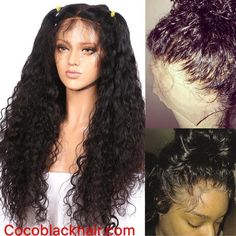 Emily-Brazilian virgin curly wave 360 Wig. / #curlywave #preplucked #360wig #naturalhair Coco Black Hair provide the most natural looking hair and wigs Change yourself today!