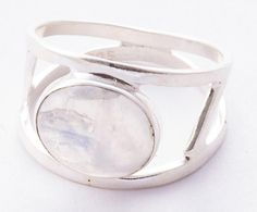 Moonstone Jewellery – Moonstone Ring, Pure 925 Sterling Silver Ring – a unique product by Midas-Jewelry on DaWanda