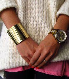 knit, cuff and watch