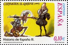 Literary Stamps: Miguel de Cervantes (1547–1616)