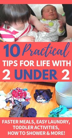 Tons of great tips and ideas for surviving life with 2 under 2 in this post. Amazing tips for toddler and newborn survival routines, ideas, must haves, and schedules. Toddler Learning, Toddler Activities, Parenting Toddlers, Parenting Hacks, Grace Based Parenting, Newborn Schedule, Terrible Twos, Toddler Development, Toddler Discipline